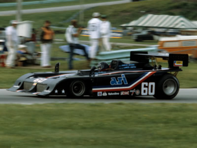 Danny Sullivan in the Intrepid at Road America in July 1980. Copyright Glenn Snyder 2009. Used with permission.