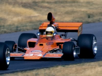 An orange Lola T330 wearing 34 at Road America in 1976 but is it Lazier or is it Dick Kantrud in the orange #34 T330 that he entered? Or is it Lazier in Kantrud's car? Copyright Glenn Snyder 2011. Used with permission.