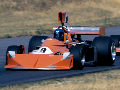 John Cannon's heavily revised F5000 March at Road America in 1976. Copyright Glenn Snyder  2015. Used with permission.