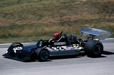 Jim Gustafson in his March 73A at Road America. Copyright Glenn Snyder  2009. Used with permission.