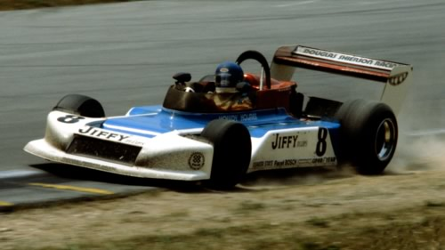 1978 North American Formula Atlantic champion Howdy Holmes, seen here at Road America in 1979 in a March 79B.  Copyright Glenn Snyder 2011.  Used with permission.
