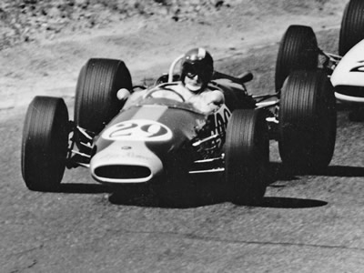 Malcolm Starr racing his Brabham-Alfa in 1966. Copyright Malcolm Starr  2015. Used with permission.