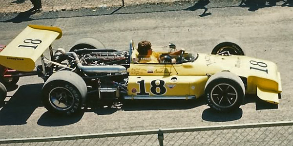 The Brabham BT32 is taken out for practice at Pocono in July 1972. Copyright Jim Stephens 2014. Used with permission.