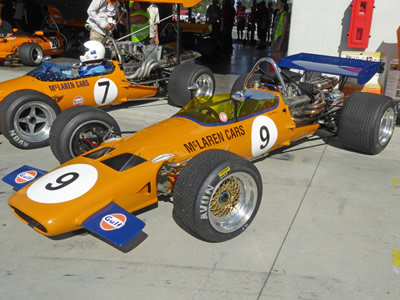 Dave Mitchell's McLaren M10B at the 2105 NZFMR celebrating Howden Ganley. Copyright Pat Stephens  2016. Used with permission.