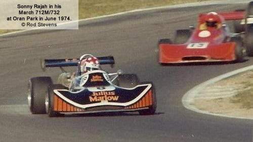 Sonny Rajah in his March 712M/732 at Oran Park in June 1974.  Copyright Rod Stevens 2011.  Used with permission.