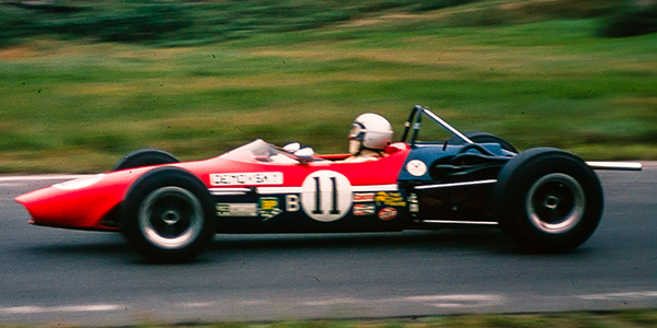 Chicago dentist Syd Demovsky in his Chevron B15b at Mont-Tremblant in September 1969. Copyright Bruce Stewart 2017. Used with permission.