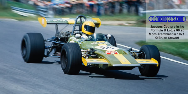 Jacques Couture in his Lotus 69 at Mont-Tremblant in August 1971.  Copyright Bruce Stewart 2017.  Used with permission.