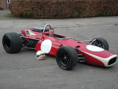 Richard Summers and his restored T140 in March 2012. Copyright Richard Summers  2012. Used with permission.