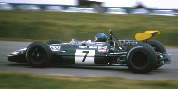 Jacky Ickx finished second at the 1969 British GP in the Brabham BT26A. Copyright Gerald Swan  2017. Used with permission.