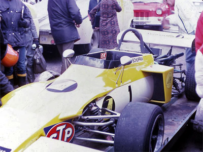 Vern Schuppan's March 722 in original specification at Brands Hatch in April 1972. Copyright Gerald Swan  2017. Used with permission.
