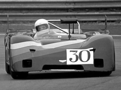 Vin Malkie in his Chevron B19 at Oulton Park in 1978. Copyright Pete Taylor 2009. Used with permission.