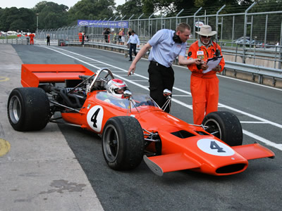 The Vebra in McLaren M10B specification at Oulton Park in 2013. Copyright Richard Taylor  2018. Used with permission.