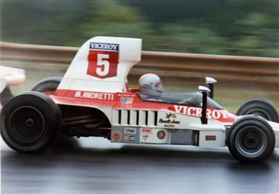 Mario Andretti in Lola T332 HU29 at Road Atlanta in 1975. Copyright Russ Thompson  2002. Used with permission.