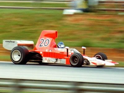 Gordon Johncock in Patrick Racing's Lola T332 HU44 at Road Atlanta in 1975.  Copyright Russ Thompson 2002. Used with permission.