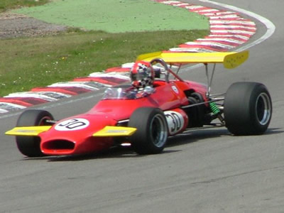 Neil Glover in Brabham BT30-12 at Brands Hatch in May 2006. Copyright John Turner 2006. Used with permission.