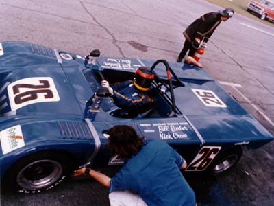 Nick Craw in the sister car to B19-71-2 at Sebring March 1972. Copyright Nick Craw 2009. Used with permission.