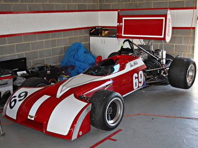 Harry Hickling's ex-Steve Millen Chevron B20 at Sandown in December 2010. Licenced by 'Peter' under Creative Commons licence Attribution-NonCommercial-NoDerivs 2.0 Generic. Original image has been cropped.