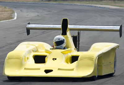 Ian Clements' yellow Frissbee in 2007 or 2008 before it was converted to F5000 Lola T332 specification. Copyright Ian Clements  2018. Used with permission.