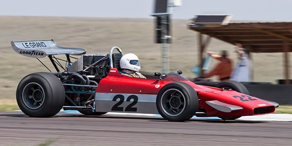 Marty Fidrich in the LeGrand Mk 11 at High Plains Raceway in August 2018. Copyright Mike Rogers (<a target='_blank' href='http://www.driven-imagery.com/'>Driven Imagery</a>)  2018. Used with permission.
