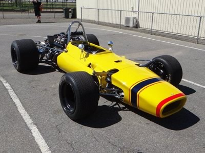 John Bryant's Lola T140 after its full restoration in December 2011. Copyright John Bryant  2011. Used with permission.