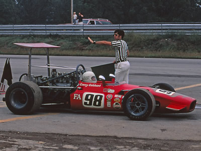 Gerry Geishart in his Lola T142 at Mid-America Raceway in September 1970. Copyright Mark Weber 2014. Used with permission.
