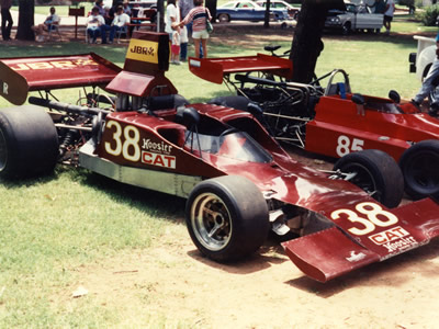 Jay Braffert's Lola T300 in 1988. Copyright Jay Braffert 2009. Used with permission.