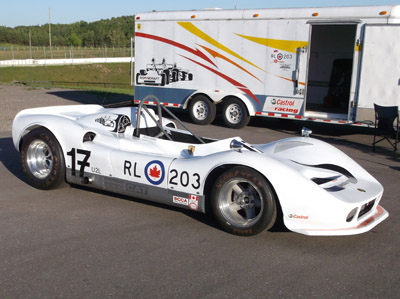 Seann Burgess' immaculately restored March RX10-B Can-Am car at Mosport Park in 2016. Copyright Seann Burgess 2016. Used with permission.