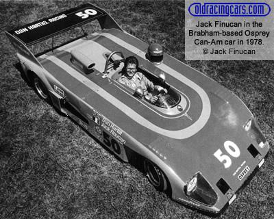 Jack Finucan in the Brabham BT38-based Osprey Can-Am car in 1978. Copyright Jack Finucan 2005. Used with permission.