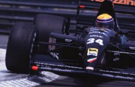 Roberto in the Andrea Moda car at Monaco in 1992.?(10)
