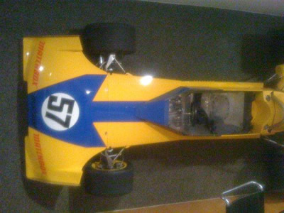 Mario Colombo's Surtees TS10 on his wall in 2011. Copyright Mario Colombo  2011. Used with permission.