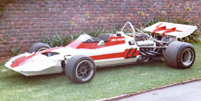 Mike Hearn's Surtees TS8 in 1974. Copyright Mike Hearn  2017. Used with permission.