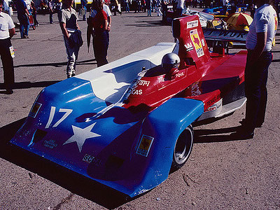 Mark Rose in his modified Lola Can-Am car at Green Valley Raceway in October 1984. Copyright Tom Margie  2016. Used with permission.