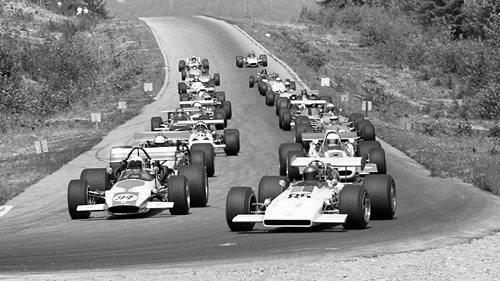 The parade lap at Westwood in 1970.  Copyright Murray Chambers.  Used with permission.