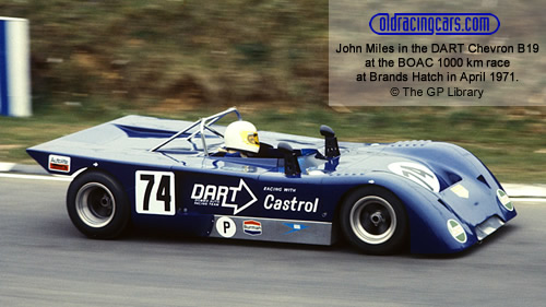 One of the DART Chevron B19s in 1971.  Copyright The GP Library 2009.  Used with permission.