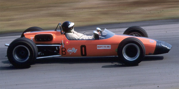 Mike Hayman's Brabham BT21C at Virginia International Raceway in September 1968. Copyright Ed Cabaniss (virhistory.com) 2019. Used with permission.