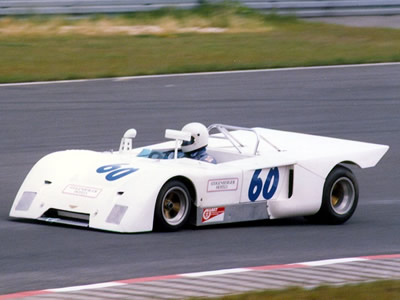 Claus Peter Beckhäuser's Chevron B19 at the Nürburgring Oldtimer Grand Prix 16-17 Aug 1986. Copyright Norbert Vogel 2009. Used with permission.