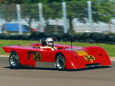 Earl Dunn in his Chevron B19 at Watkins Glen in September 1990. Copyright Norbert Vogel 2009. Used with permission.