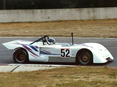 A Chevron B19 driven by Hansmarkus Huber at Zolder in August 1990. Copyright Norbert Vogel 2009. Used with permission.