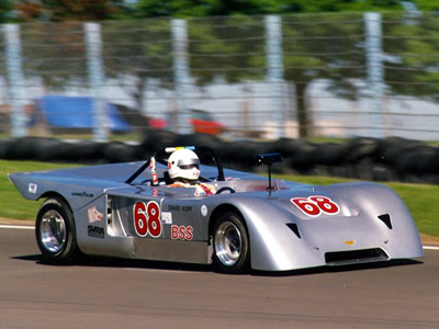 David Kopf in his Chevron B19 at Watkins Glen in September 1990. Copyright Norbert Vogel 2009. Used with permission.