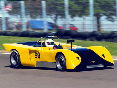 Dick Leppla in yet another Chevron B19, this one at Watkins Glen in September 1990. Copyright Norbert Vogel 2009. Used with permission.