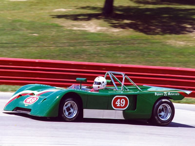 Robert Hubbs in a Chevron B19 at the Mid-Ohio Historic Challenge 26-28 July 1996. Copyright Norbert Vogel 2009. Used with permission.