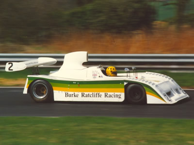 The Burke Ratcliffe Lola T530 of Mike Wilds and Ian Flux at Oulton Park on Good Friday 1987. Copyright Norbert Vogel  2015. Used with permission.