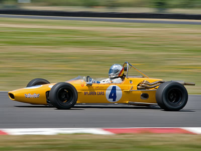 Tom Lee's McLaren M4A at the Portland Historics in 2011. Copyright Bill Wagenblatt 2011. Used with permission.