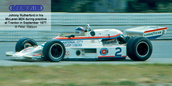 Johnny Rutherford in his 