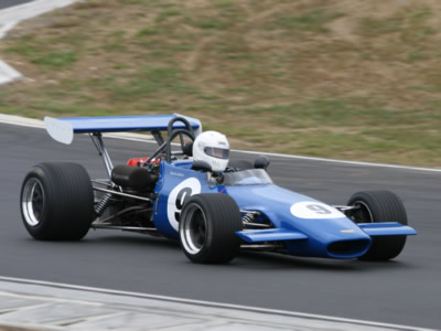 Martin Bullock in his Chevron B17C at Hampton Downs in January 2010. Copyright Nigel Watts  2014. Used with permission.