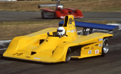 Merle Brennan in his Frissbee at Sears Point in 1984. Copyright Dan Wildhirt 2010. Used with permission.