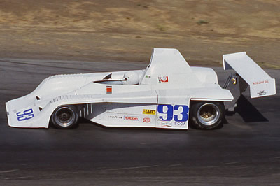 Bob Meyer in his Frissbee at Sears Point in 1984. Copyright Dan Wildhirt  2010. Used with permission.