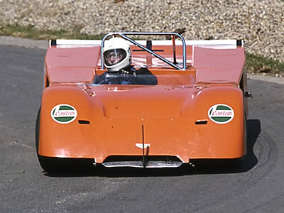 """Chippy"" Stross in his Chevron B19-FVC at Harewood in 1975. Copyright Steve Wilkinson 2009 . Used with permission."
