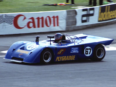 Vin Malkie in the Plygrange Chevron B19 at Silverstone in 1980. Copyright Steve Wilkinson 2009 . Used with permission.