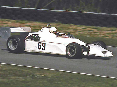 Steve Lees in his Chevron at an Oulton Park spring in 1983. Copyright Steve Wilkinson 2020. Used with permission.